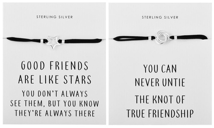 Sterling Silver Quote Bracelet
