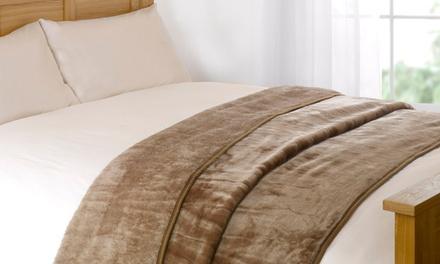 Unifarbene Bettüberwurfe - mehrere Farben und Größen nach Wahl