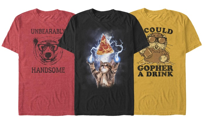 f6420453 Up To 51% Off on Men's Animal Humor Graphic Tee | Groupon Goods