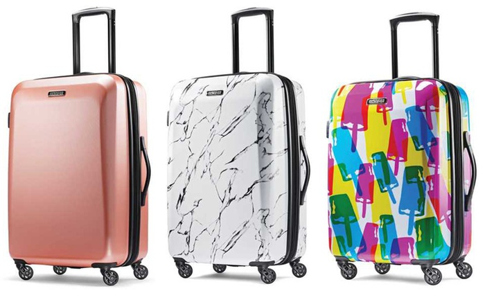 b6e10bdd8 American Tourister Moonlight Hard-Side Spinner Luggage | Groupon