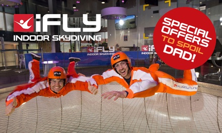 iFLY Indoor Skydiving Gold Coast: Fathers Day Special 2 Flights Each $55, 2 $99, 3 $159 or 5 Ppl $250