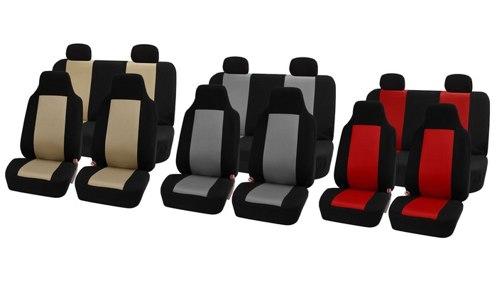 Universal Fit Sandwich Fabric Car Seat Covers