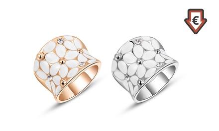 Ring Daisy verziert mit Kristallen von Swarovski® in Gold oder Silber