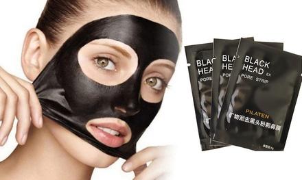 Pack de 8, 16 o 24 mascarillas faciales exfoliantes negras
