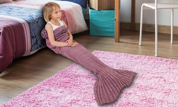 mermaid tail blankets groupon. Black Bedroom Furniture Sets. Home Design Ideas