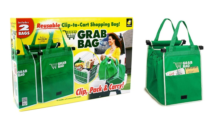 40% Off on Grab Bag Grocery Bags (2-Pack) | Groupon Goods