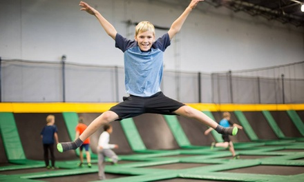 Jump or Glow Passes, or Supreme Air Party at Vertical Velocity Trampoline Park (Up to 50% Off). Five Options.