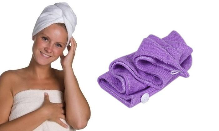 Turbante asciuga capelli
