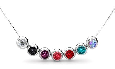 1 o 2 sets de collar con 7 colgantes con cristales Swarovski®