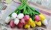 10 Artificial Tulip Flowers