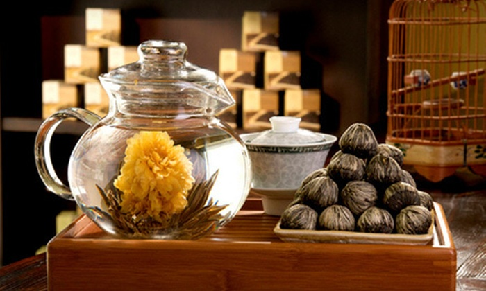Bird Pick Tea & Herb - Multiple Locations: Gift Package with Tea, Cup, and Tote, or Tea, Snacks, and Gift Package for Two at Bird Pick Tea & Herb (Up to 52% Off)