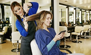 Haircare: Cut, Finish and Condition with Optional Half Head Highlights or Full Head Colour at Mac Hair (Up to 72% Off)