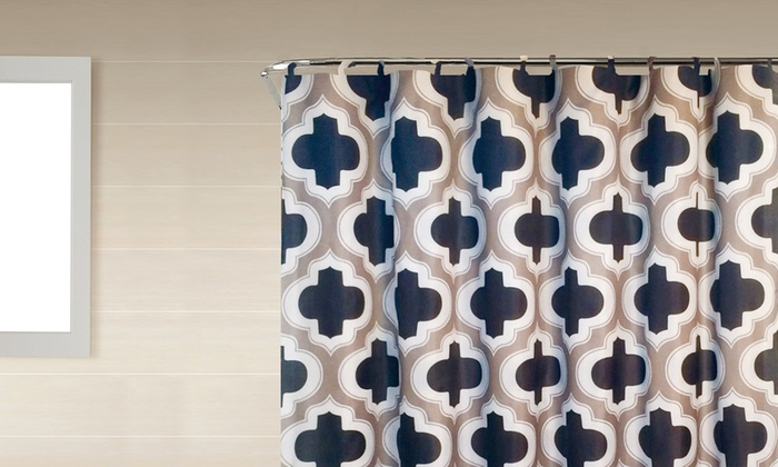 Bath Boutique Shower Curtain and Bath Rug Set (18-Piece) | Groupon