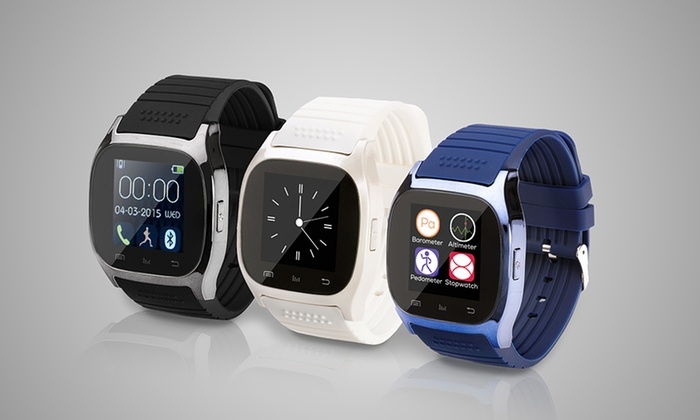 Groupon Goods Global GmbH: BAS-TeK WB06 Bluetooth Smartwatch for €24.99 With Free Delivery (79% Off)