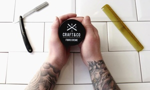 Craft and Co Barbershop: Men's Cut and Style or Gentleman's Cut and Beard Trim with a Glass of Whiskey at Craft and Co Barbershop (Up to 50% Off)