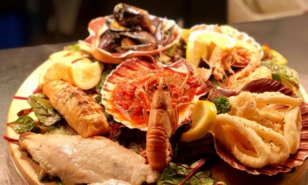 Seafood Platter or Brazilian Steak and a Glass of Wine for Two or Four at Boteco Do Brasil Edinburgh