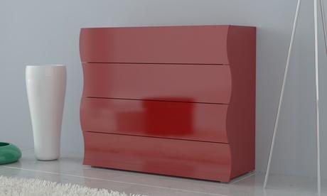 Mueble auxiliar de 4 cajones fabricado en Italia Oferta en Groupon