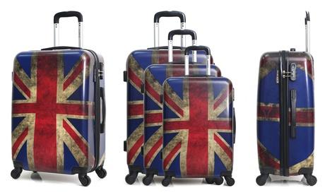 Maleta o set de 3 maletas Bluestar de ABS con mango telescópico Oferta en Groupon