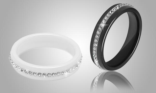 Bague céramique OMG Jewel ornée de cristaux Swarovski®, pour femme
