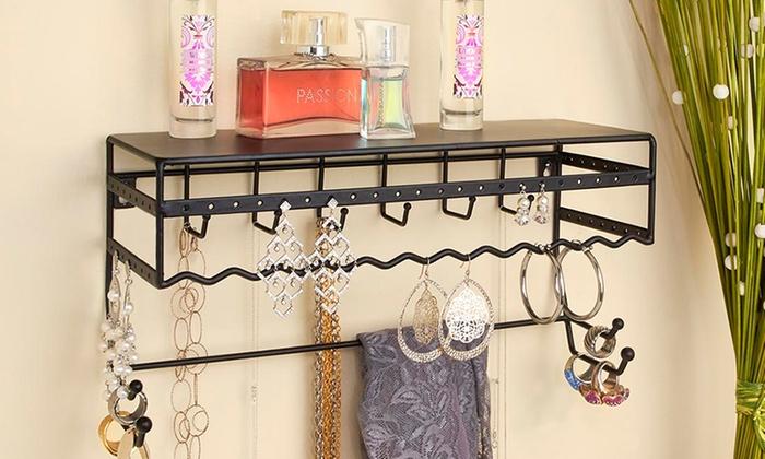 Simplify Wall-Mount Jewelry and Accessory Storage-Rack Organizer Shelf - 43% Off On Jewelry And Accessory Shelf Groupon Goods