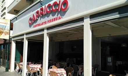 Menú para 2 o 4 con entrante, principal, postre y botella de lambrusco o bebida desde 24,95 € en Ristorante Capriccio