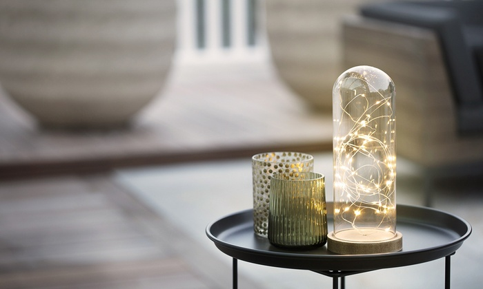 Sfeervolle Led Verlichting : Tot op kerst stolp met ledverlichting groupon producten