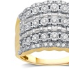 1/2 CTTW Fashion Diamond Band in 14K Gold Plating by DeCarat