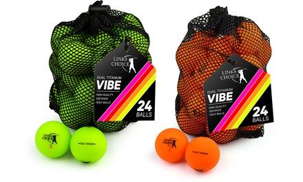 24 Golf Balls with Mesh Bag