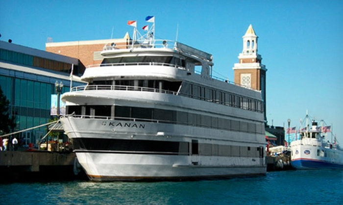 "On Cruises - Navy Pier: $19 for Monday Or Tuesday Happy-Hour After-Work Cruise for Two on ""Kanan Yacht"" from On Cruises at Navy Pier ($50 Value)"