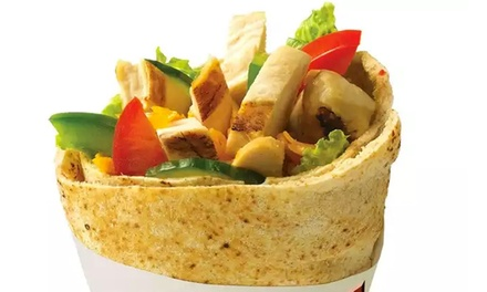 Pita Wraps, Salads, and Fresh Fruit Smoothies or One Classic Pita Platter at Extreme Pita (Up to 50% Off)