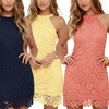 Melanie Women's Bodycon Sleeveless Lace Dress