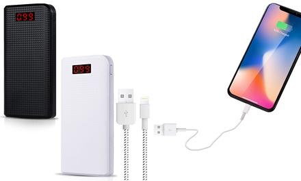 1 ou 2 batteries de secours 25.000 mAh – écran de charge restante – 2 Ports USB