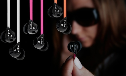 Veho 360 Stereo Noise-Isolating Z1 Earbuds with Anti-Tangle Cord
