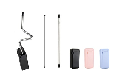 Collapsible and Reusable Stainless Steel Straw: One $15 or Two $25