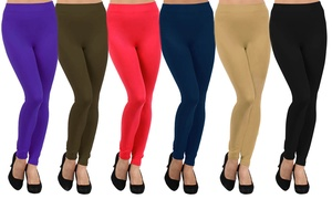 Style Clad Women's Fleece Lined Seamless Leggings (5-Pack)