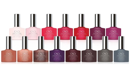 Six Bottles of CND Shellac Luxe Nail Polish