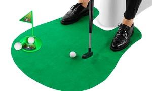 Jeu de golf pour les toilettes