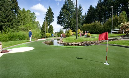 $11 for One Round of <strong>Mini Golf</strong> for Up to Four People at Tualatin Island Greens ($20 Value)