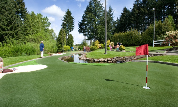 Tualatin Island Greens - Tualatin Island Greens Golf Center & Grill: Mini Golf for Four, or a Punch Card for 10 Rounds of Mini Golf at Tualatin Island Greens (40% Off)