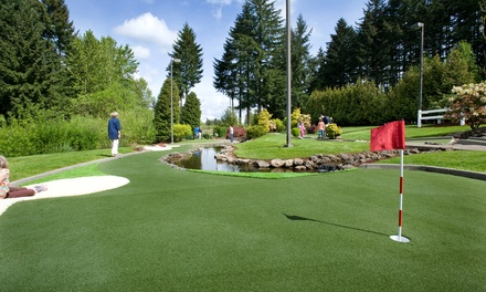 Mini Golf for Four People or Two Buckets of Range Balls and Two Drinks at Tualatin Island Greens (Up to 40% Off)