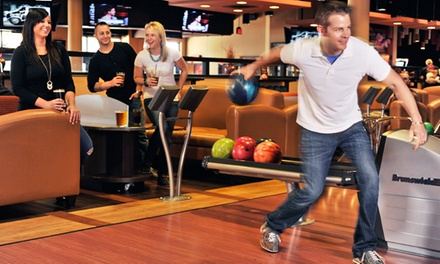 Two Games of Bowling, Shoe Rentals, Two Pizzas & Soda for Up to Four or Six at Frank Theatres CineBowl & Grille