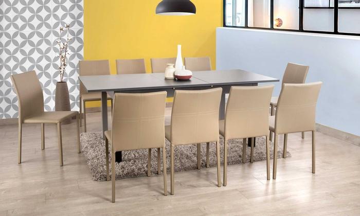 Table extensible avec allonge groupon shopping for Table extensible groupon