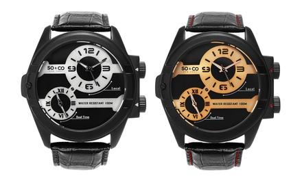 So&Co New York Mens Dual Time Quartz Watch