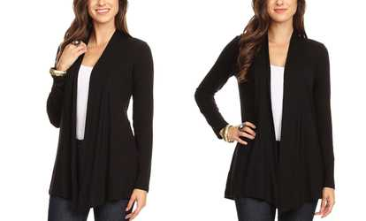 faf9bb5b372 Shop Groupon Nelly Women s Long-Sleeved Cardigan. Plus Sizes Available.