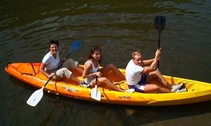 Kayak les Remous (AJM-Services): Afvaart natuur, avontuur of sportief van de Ourthe in kajak voor 2, 4, 6 of 8 pers. vanaf € 19,99 met Kayak les Remous
