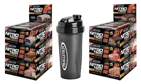 MuscleTech Nitro-Tech Crunch Protein Bars (2-Pack) and Shaker Cup 0482d13d-5bb6-4420-a3d6-999fecf492df
