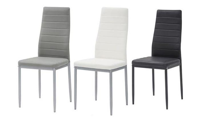 4 sedie in ecopelle Claudia | Groupon