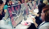 Wine and Palette - Multiple Locations: $17 for Social Painting Class from Wine and Palette (Up to $35 Value)