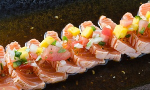 J Sushi and Asian Bistro: Sushi and Asian-Fusion Cuisine for Two or Four at J Sushi and Asian Bistro (Up to 42% Off)