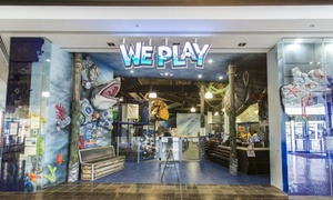 We Play: $10 for Family Fun Centre Entry with Electric Car Rides or $15 with a Kids Meal at We Play (Up to $27.40 Value)